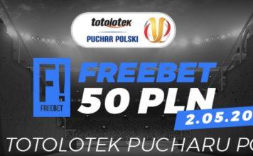 Totolotek Puchar Polski. Freebet 50 PLN na grę online!